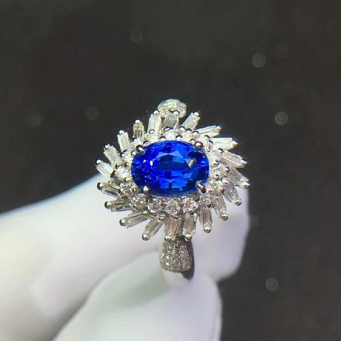 1.3ct Sapphire Ring in 18kt White Gold - 5