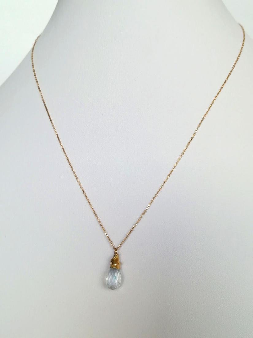 19.2 Kuilates - Gold Necklace With Stone Topaz Light - - 10