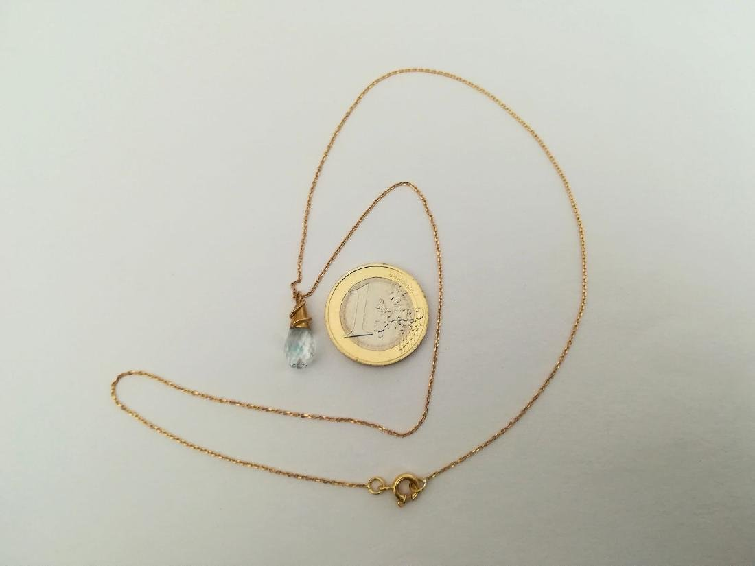 19.2 Kuilates - Gold Necklace With Stone Topaz Light - - 8