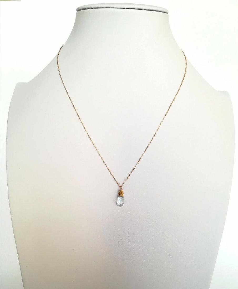 19.2 Kuilates - Gold Necklace With Stone Topaz Light - - 9