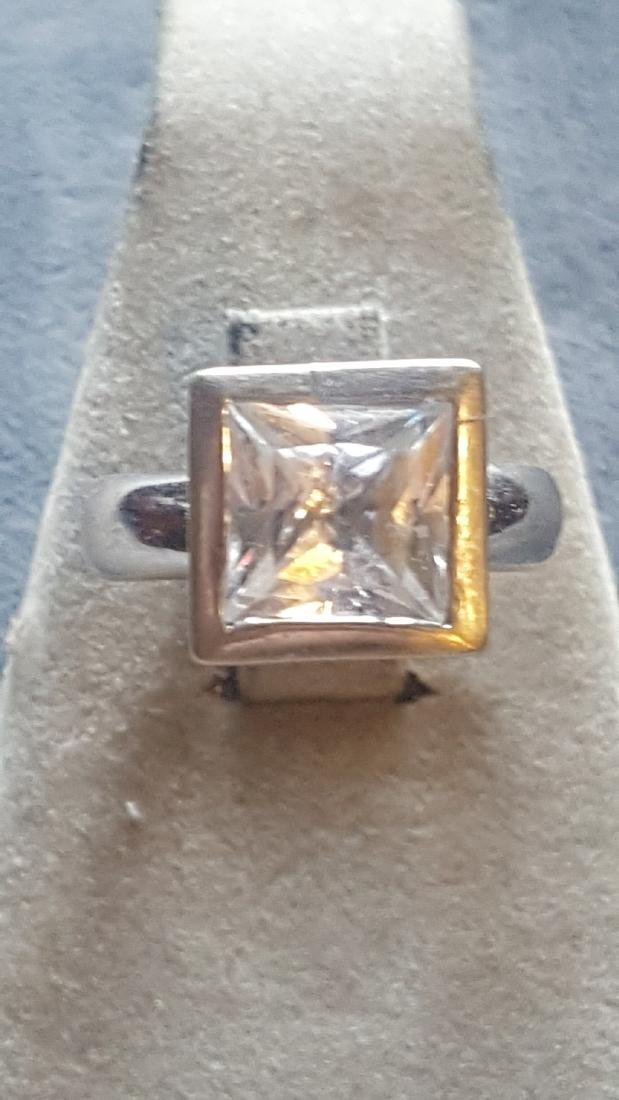 9ct Princess Cut CZ  Ring