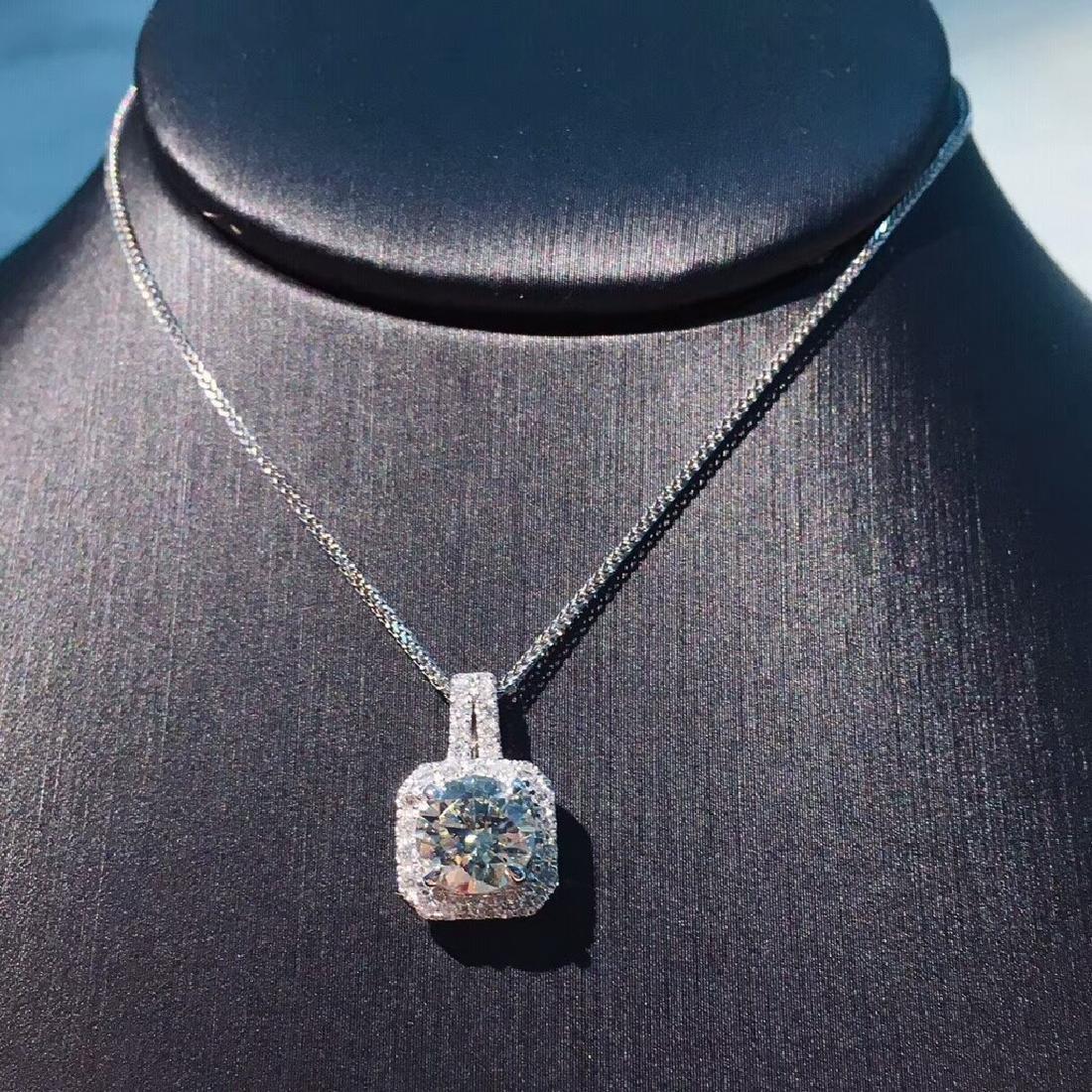 1.01 CTW VS Diamond Pendant 18K - 2