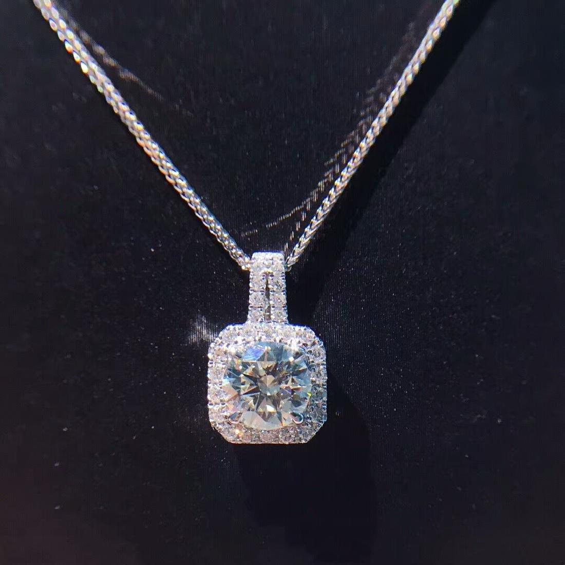 1.01 CTW VS Diamond Pendant 18K - 3