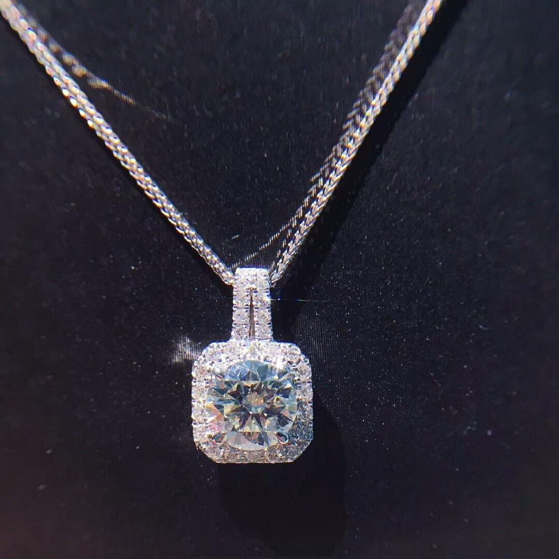 1.01 CTW VS Diamond Pendant 18K - 4