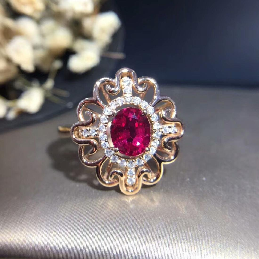 0.95ct Ruby Ring in 18kt white Gold