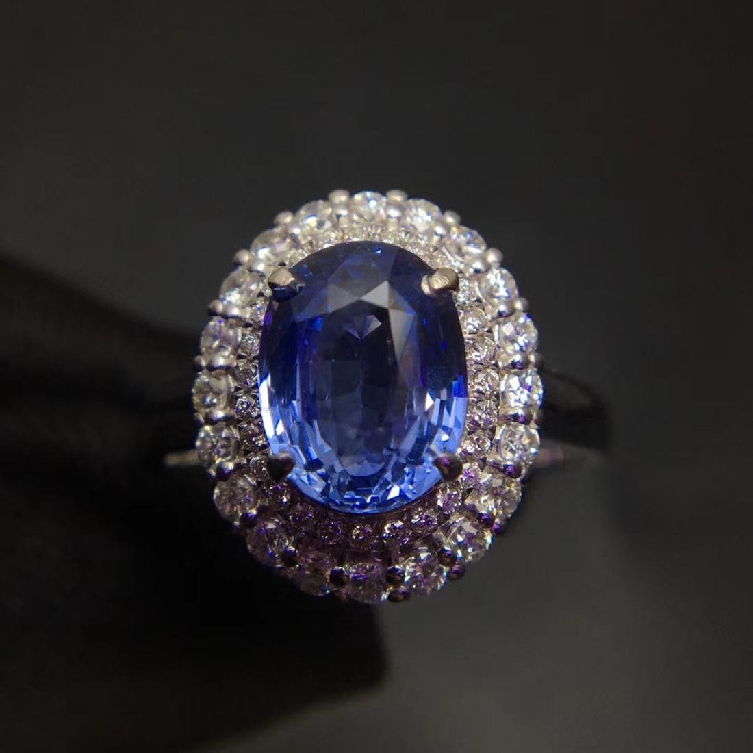 2.59ct Sapphire Ring in 18kt White Gold
