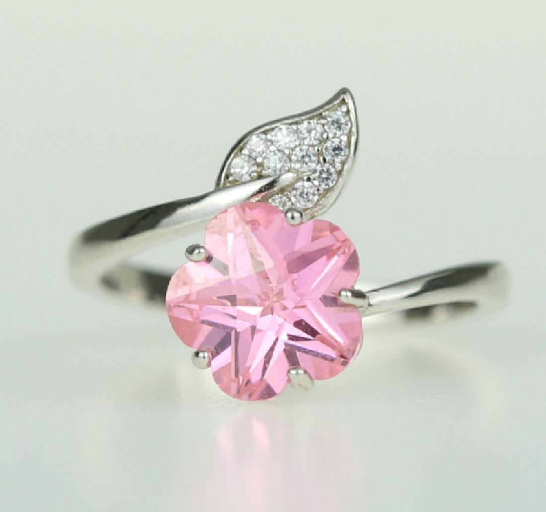 Exquisite 925 silver ring with zircon