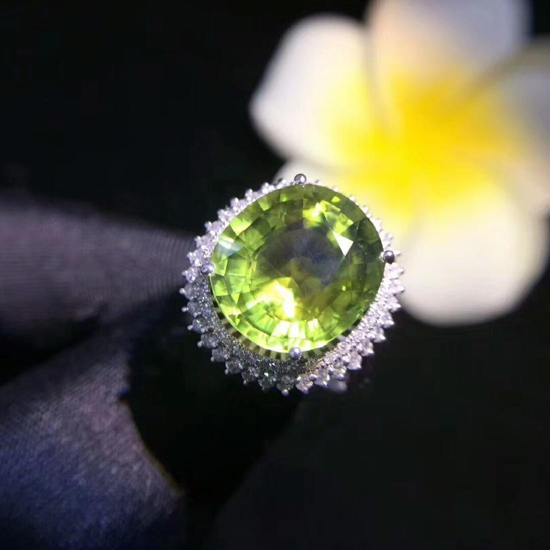 6.8ct Tourmaline Ring in 18kt White Gold - 3