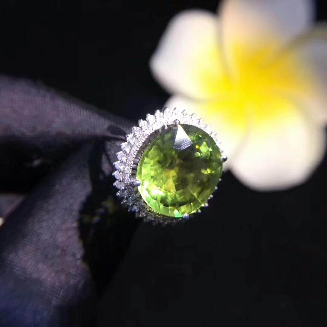 6.8ct Tourmaline Ring in 18kt White Gold - 4