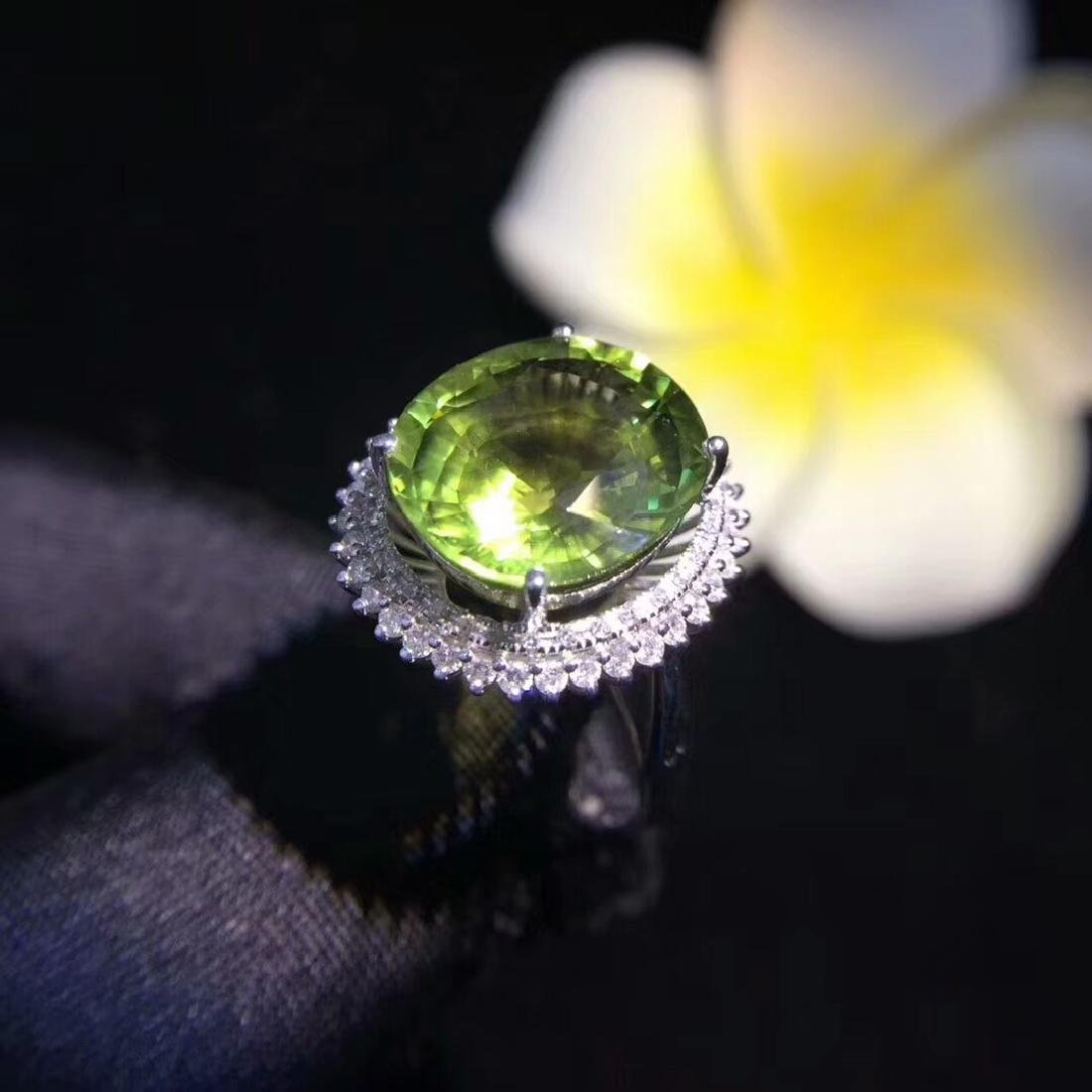 6.8ct Tourmaline Ring in 18kt White Gold - 5