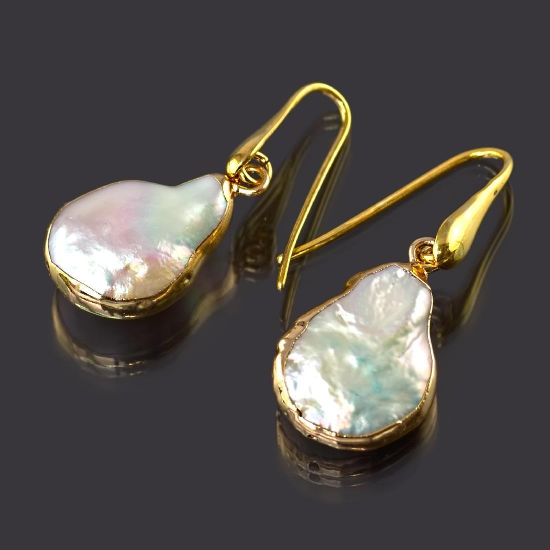 Biwa Keshi Pearl Earrings