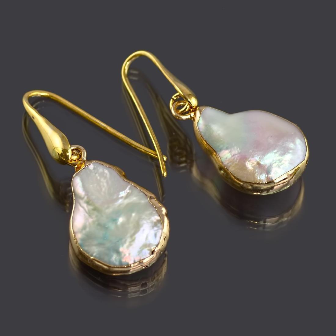 Biwa Keshi Pearl Earrings - 3