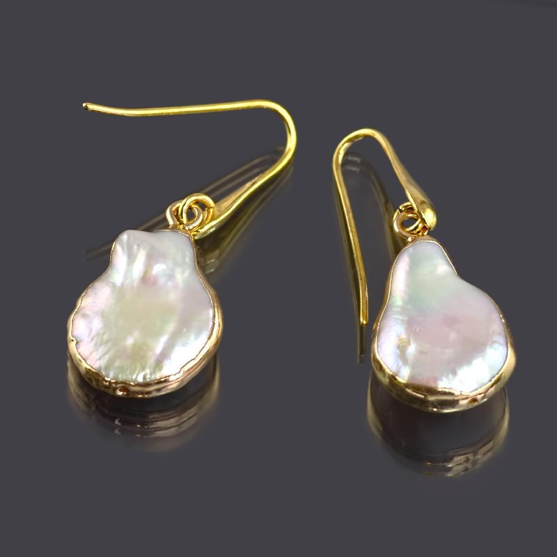 Biwa Keshi Pearl Earrings - 4