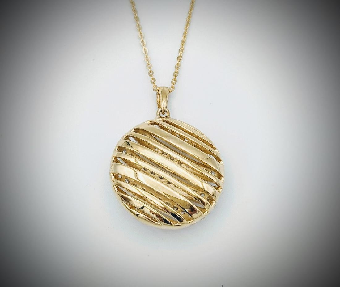 Gold Plated Necklace and Pendant with Cubic Zirconia - 2