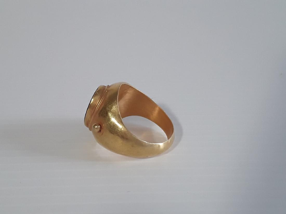 Anillo romano oro cara emperador - 2