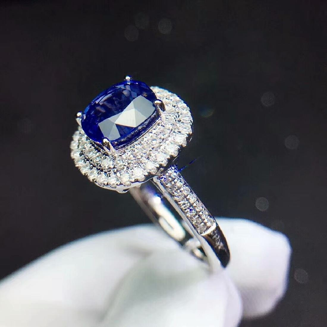 2.21ct Sapphire Ring in 18kt White Gold - 3