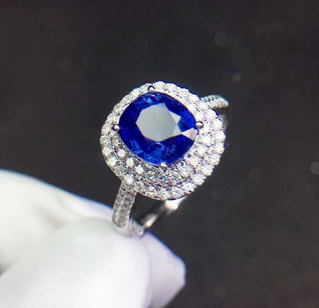 2.21ct Sapphire Ring in 18kt White Gold - 4