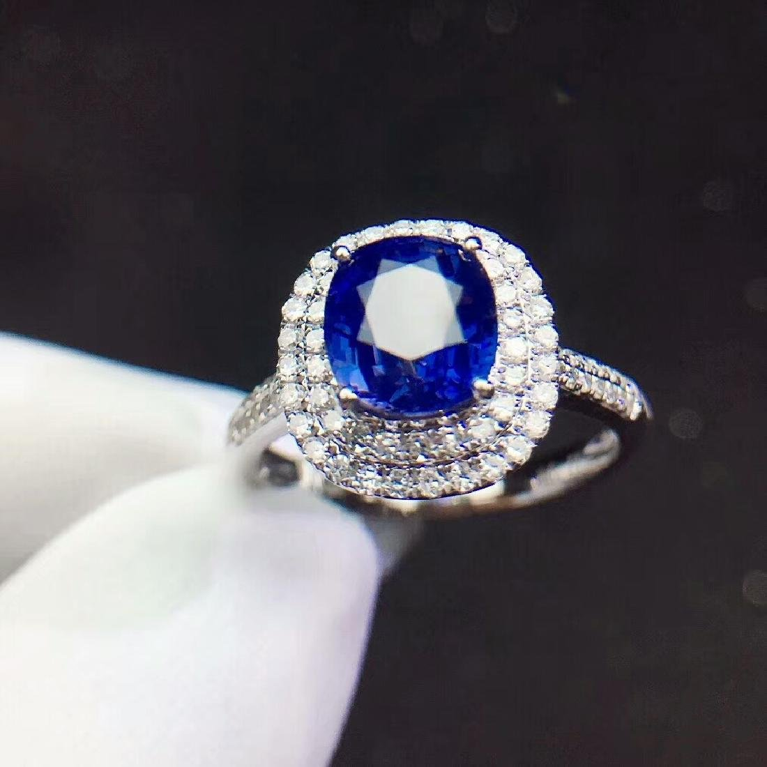 2.21ct Sapphire Ring in 18kt White Gold - 5