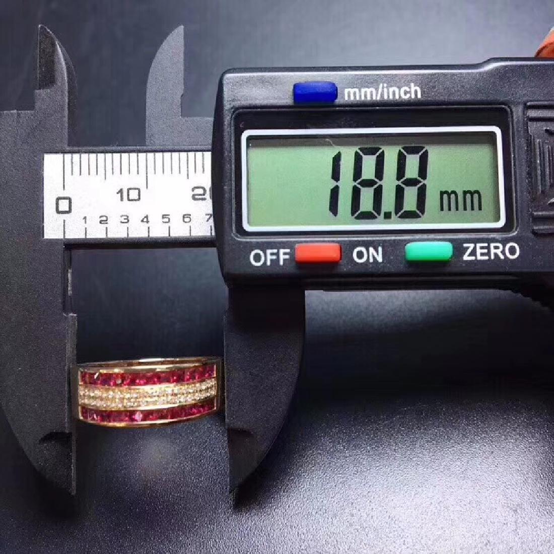 1.15 CTW Ruby & VS Diamond Ring 18K - 2