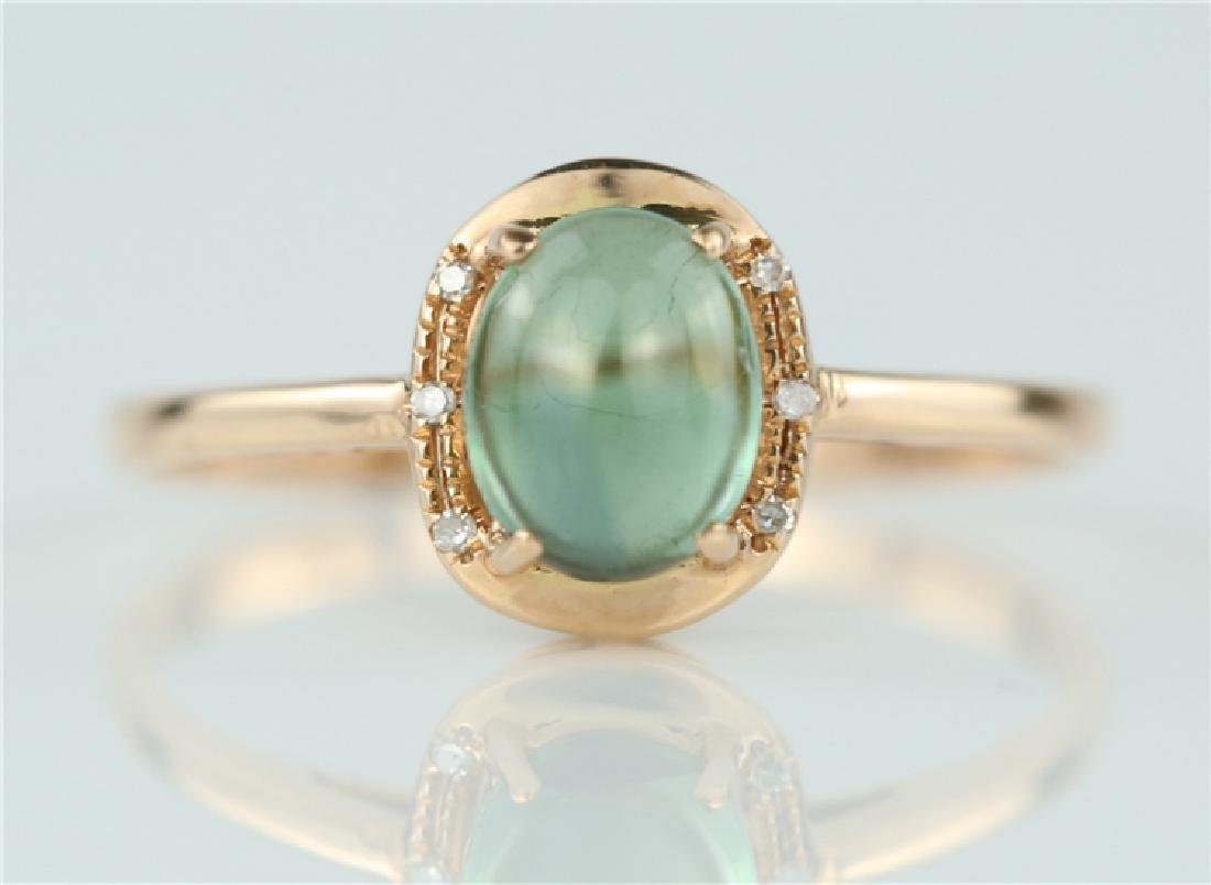 Tourmaline ring with 18K gold
