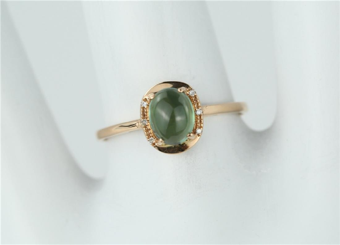 Tourmaline ring with 18K gold - 6