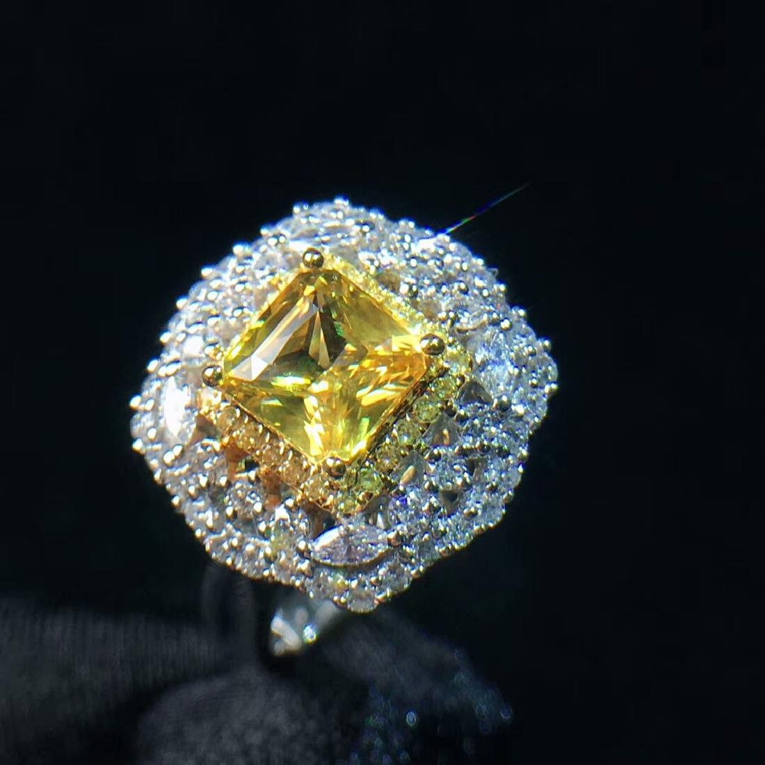 1.21ct Yellow Sapphire Ring in 18kt Rose Gold - 2