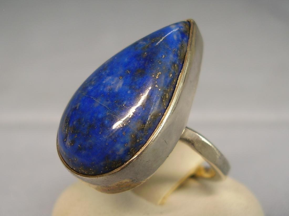 Lapislazuli Silver Ring - 3
