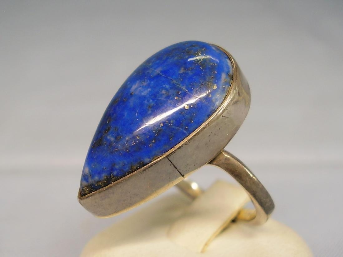Lapislazuli Silver Ring - 5
