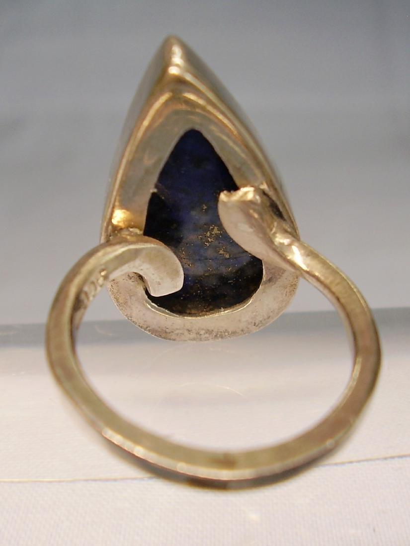 Lapislazuli Silver Ring - 7