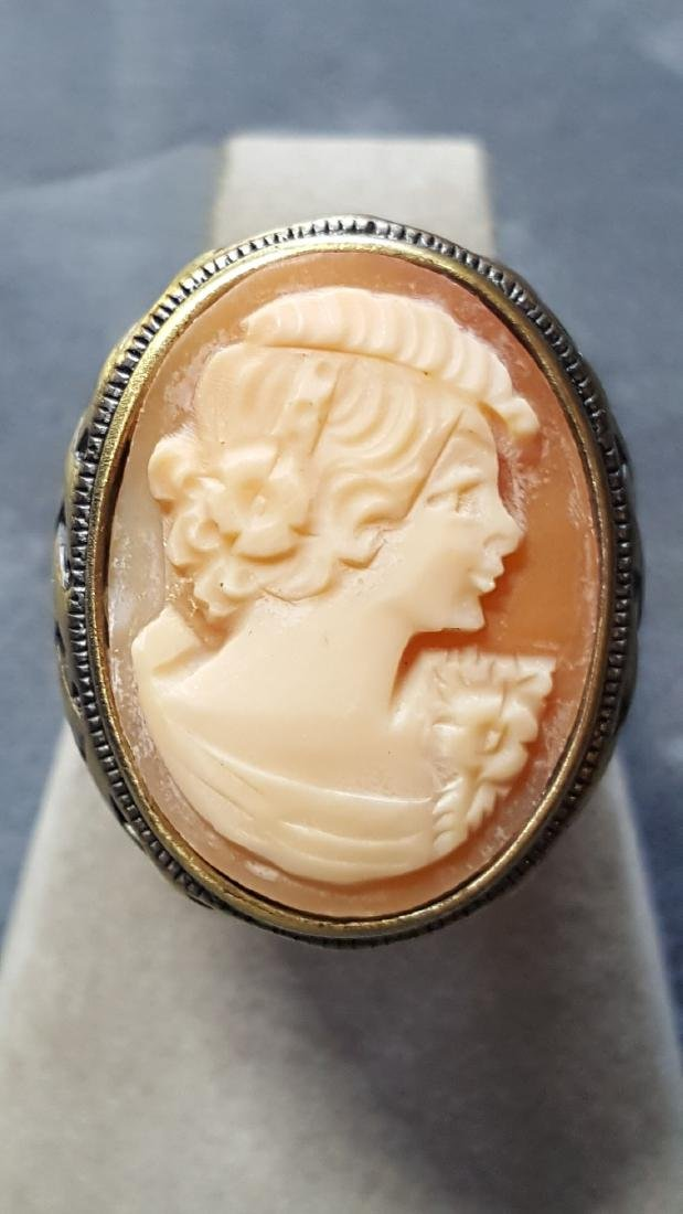 Elegant Basket Weaved Cameo RIng