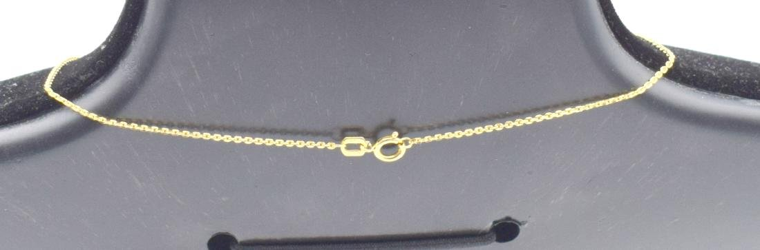 14 Carat yellow gold chain with cross pendant - 5