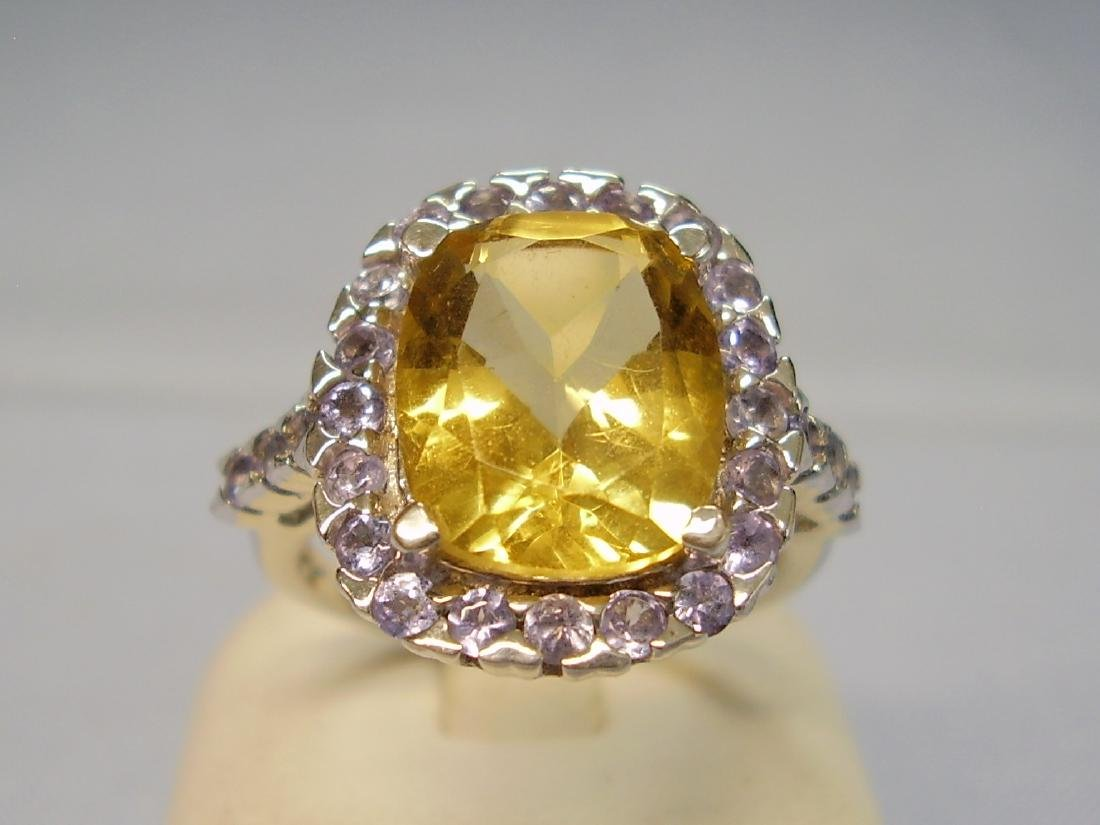 Cocktail-Ring Tanzanites Citrine