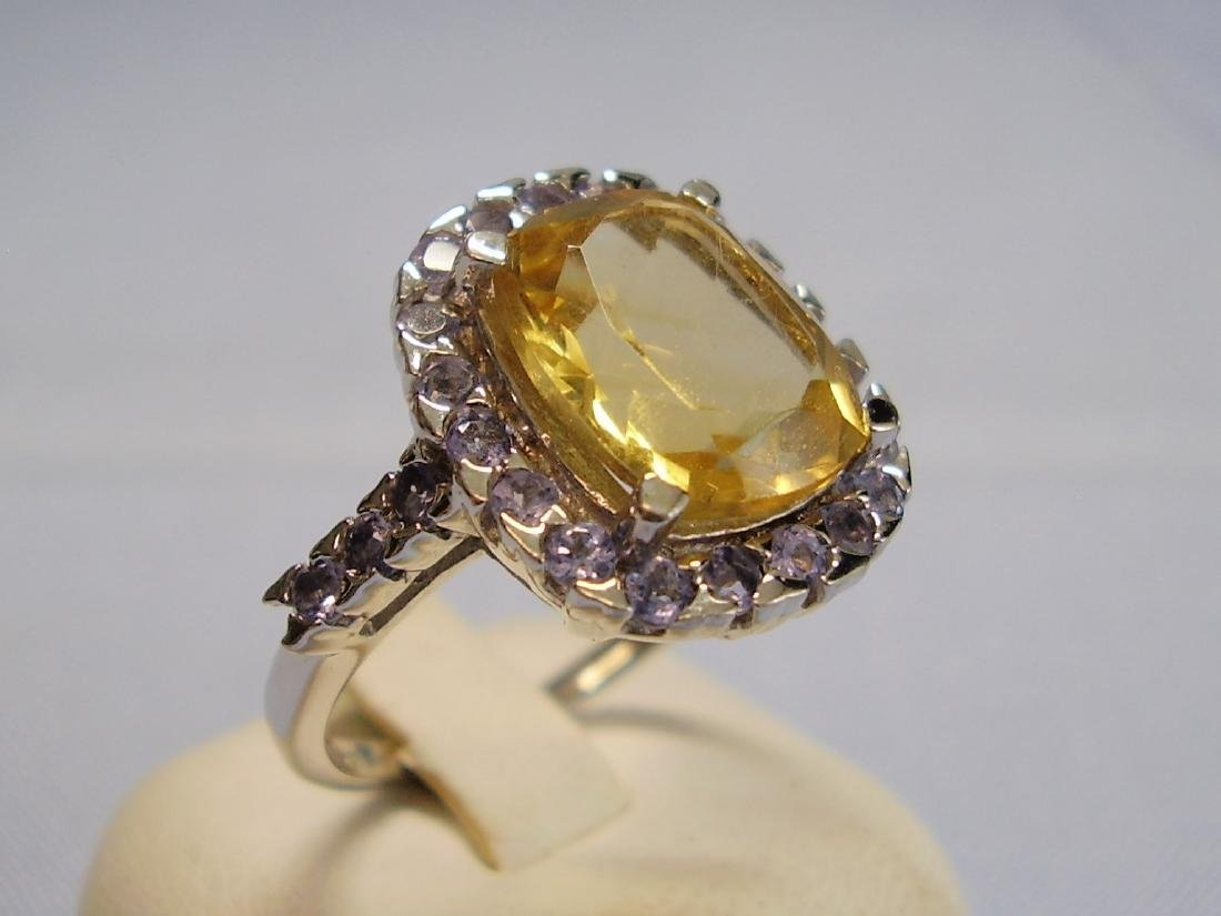 Cocktail-Ring Tanzanites Citrine - 2