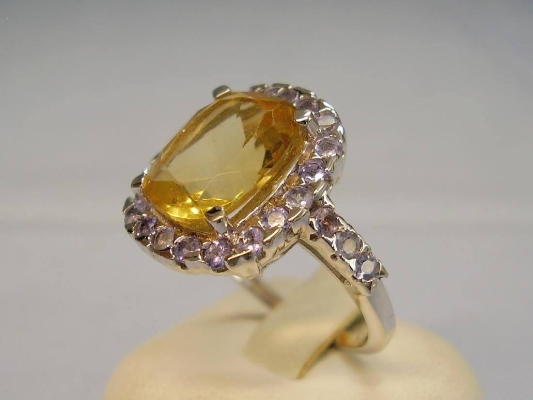 Cocktail-Ring Tanzanites Citrine - 3