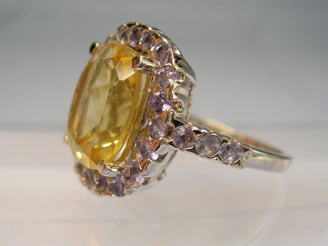 Cocktail-Ring Tanzanites Citrine - 6