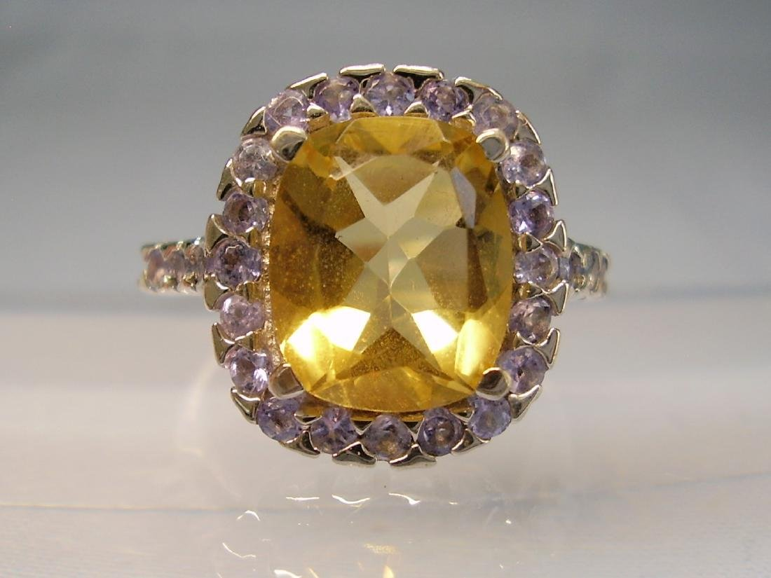 Cocktail-Ring Tanzanites Citrine - 7
