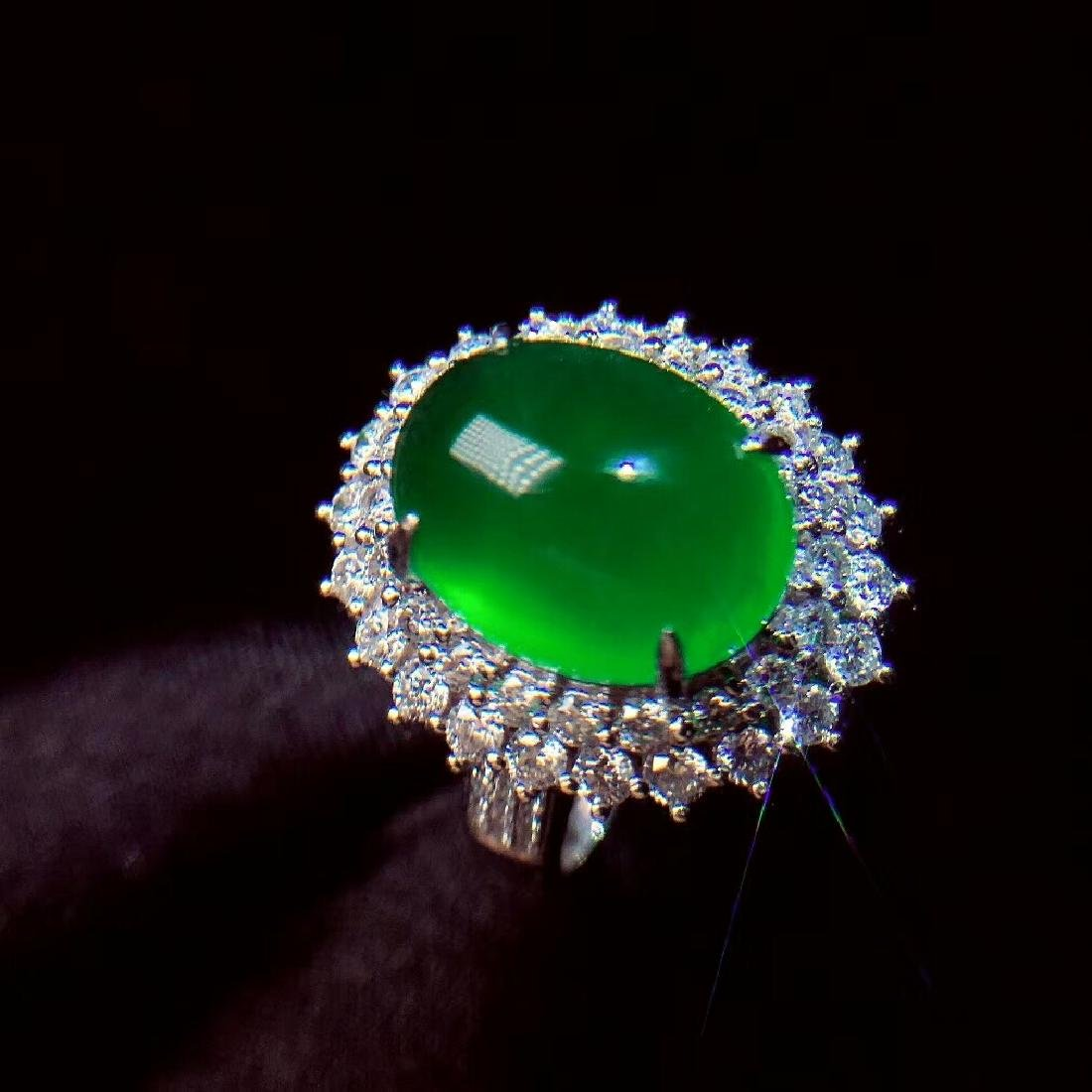 7.6ct Emerald Ring in 18kt White Gold - 2