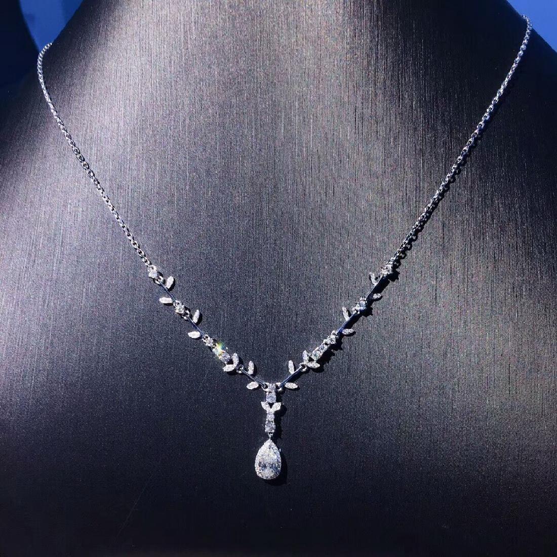 0.5 CTW Diamond & VS Diamond Necklace 18K - 2