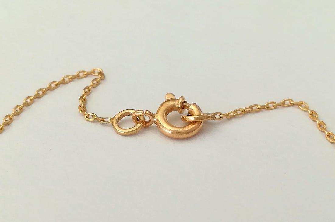 19.2 carat gold necklace with pearls 3.3 grams - 4