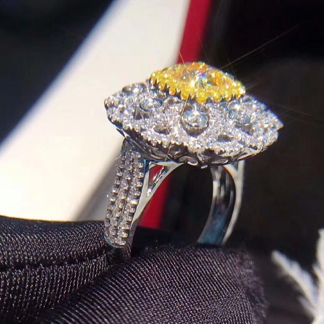 1.52 CTW VS Yellow Diamond Ring 18K - 3