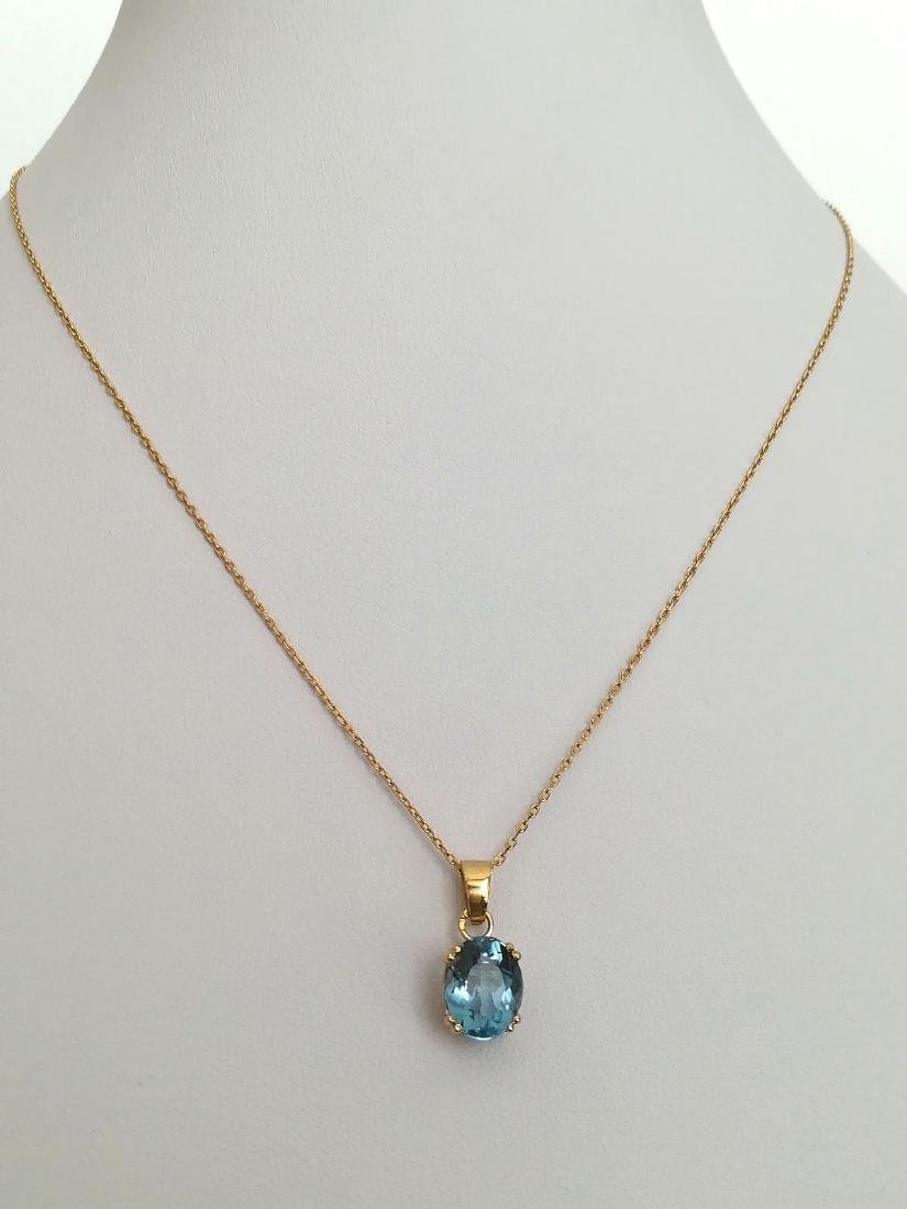 19.2 carats - necklace set with gold pendant and - 6