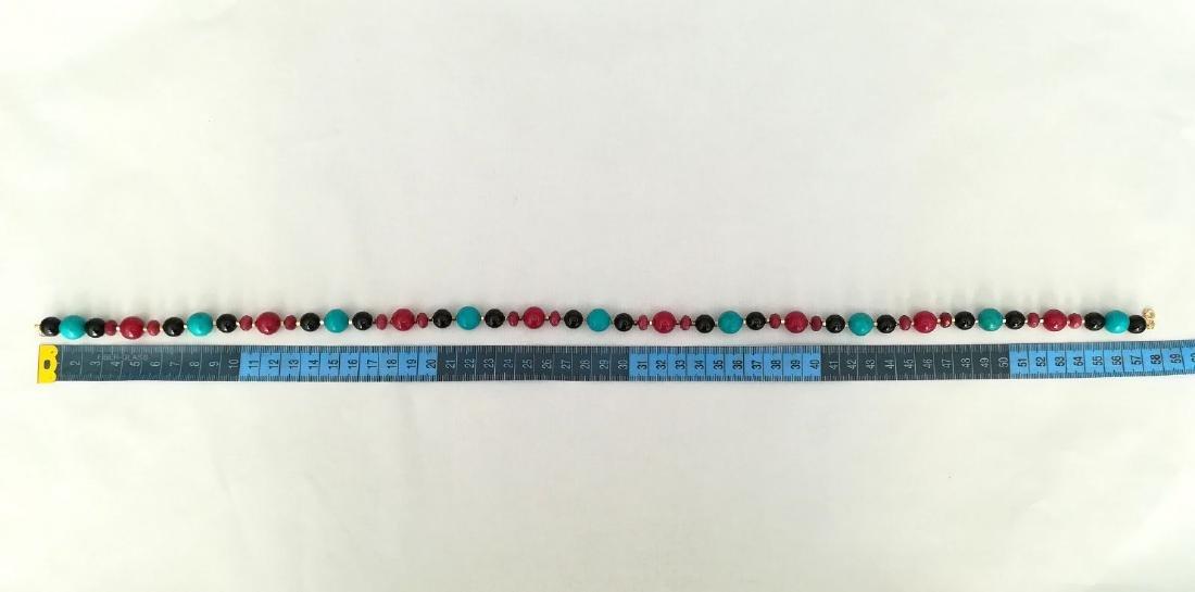 19.2 kt – Turquoise + Onyx + Ruby + Pink tourmaline - 9