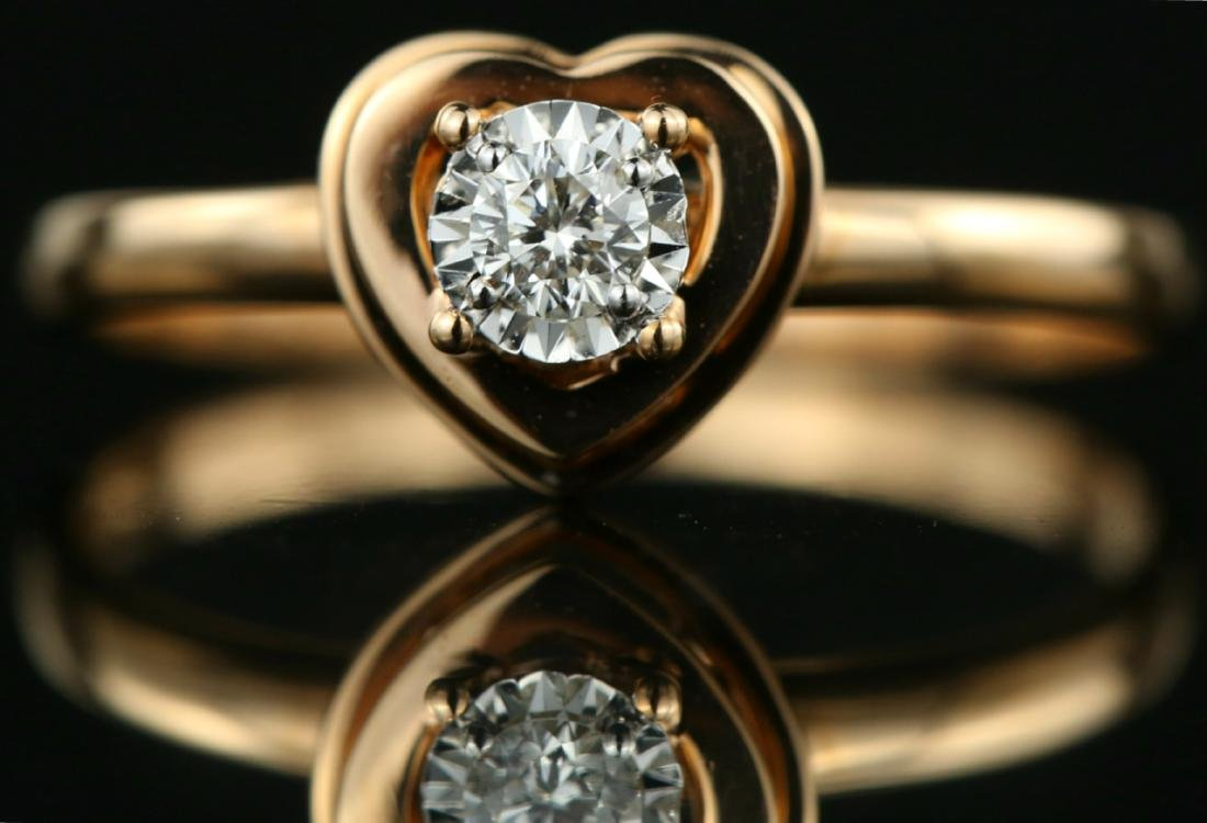 18Kt Rose gold solitaire engagement Diamond ring
