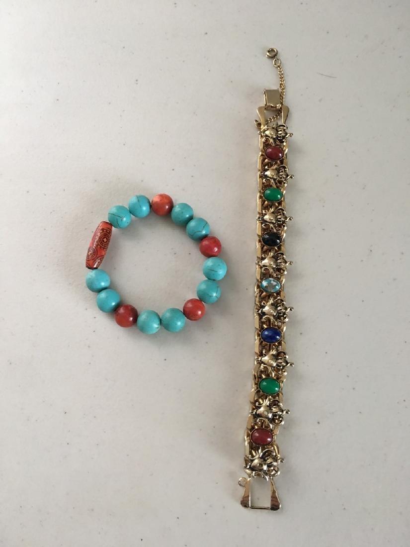 a set of bracelace