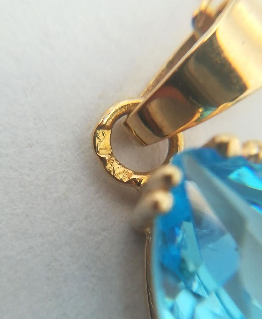 19.2 carat gold necklace With Topaz 13,9x9,9mm - 4,5 - 6