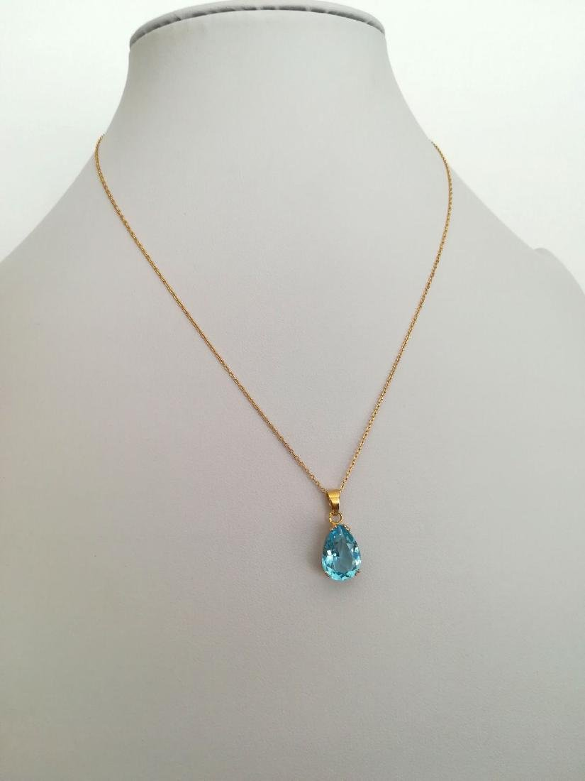 19.2 carat gold necklace With Topaz 13,9x9,9mm - 4,5 - 8