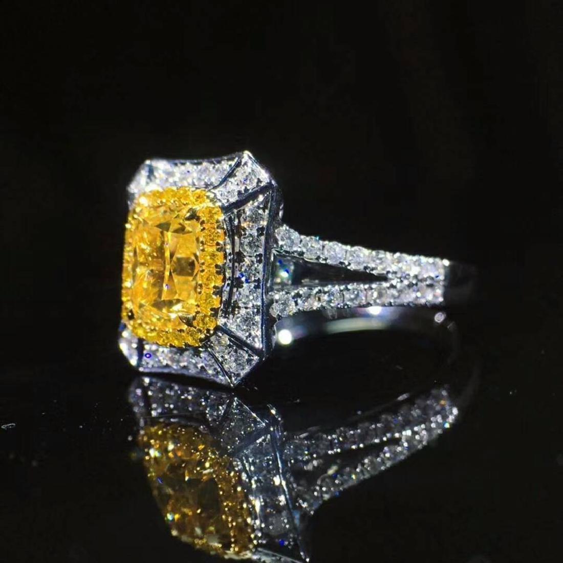 1.10 CTW VS Yellow Diamond Ring 18K