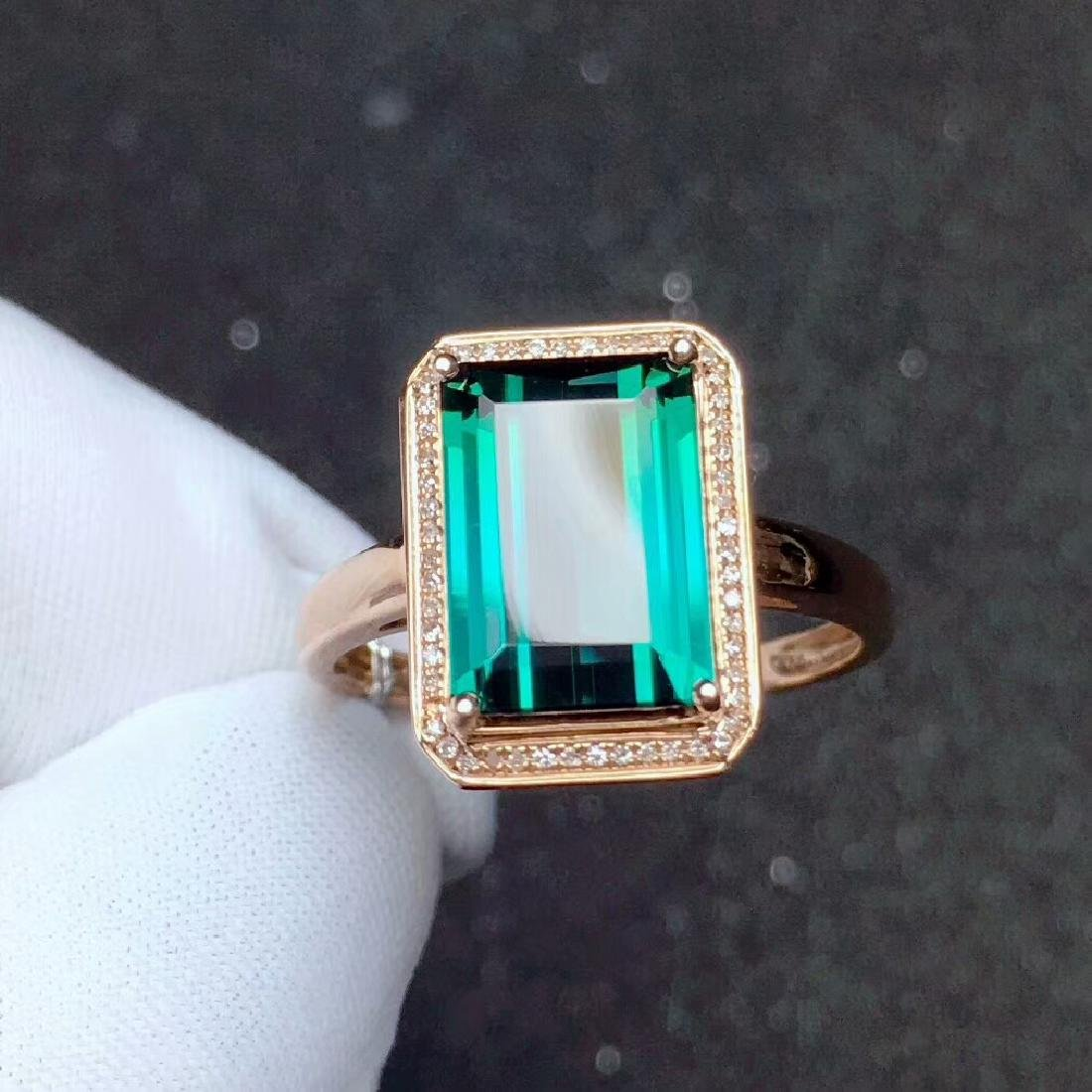 4ct TourmalineRing in 18kt Rose Gold