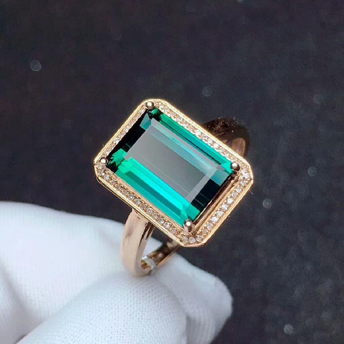 4ct TourmalineRing in 18kt Rose Gold - 3