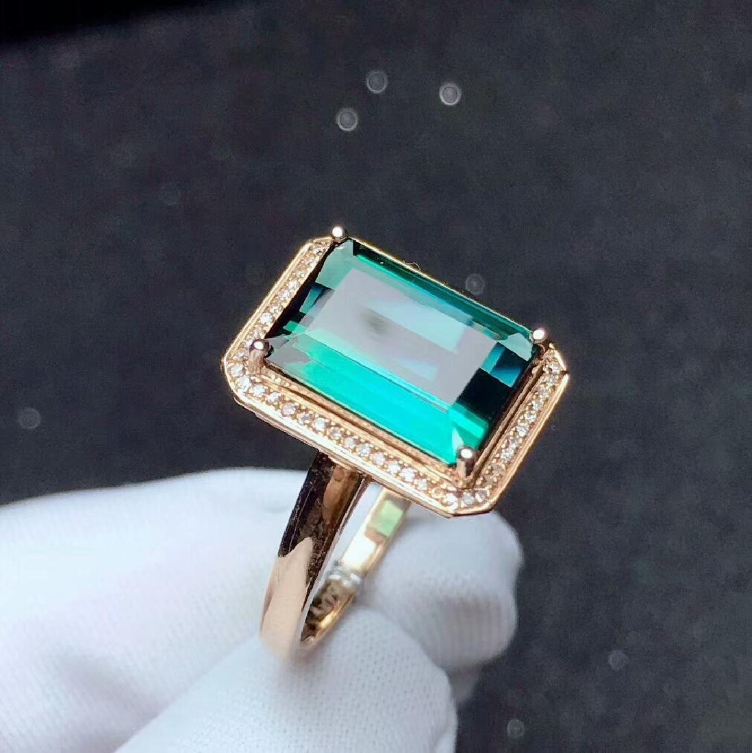 4ct TourmalineRing in 18kt Rose Gold - 5
